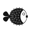 Fugu sharp fish icon simple style vector image vector image