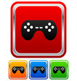 game controllers remotes pc console gaming vector image