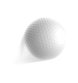 golf ball fly vector image