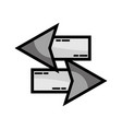 grayscale arrows loading in process icon vector image