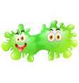 Green splash with faces vector image vector image