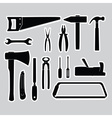 hand tools stickers set eps10 vector image vector image
