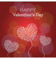 Happy Valentines Day card with hearts and text vector image