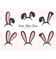 hare ears costume part vector image vector image