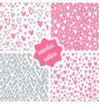 hearts seamless patterns set vector image vector image