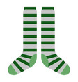 isolated pair of socks icon patrick day vector image