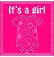 Its a girl card with body vector image
