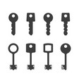 keys silhouettes set vector image