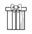 line nice present gift to merry christmas vector image vector image