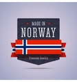 Made in Norway badge vector image vector image