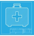 Medical First aid box sign White section of icon vector image vector image