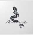 mermaid logo icon design vector image vector image