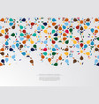 modern arabesque hexagonal pattern colorful vector image vector image