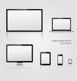 modern technology digital devices with blank vector image