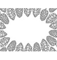 monochrome background of hop vector image vector image