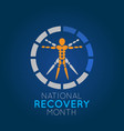 national recovery month logo icon vector image vector image