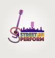 neon style street perform logo symbol vector image