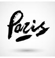 Paris grunge sign vector image