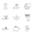 Patronage icons set outline style vector image vector image