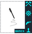 pen icon flat vector image vector image