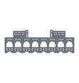 pictogram of a hydroelectric power station on the vector image