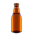 pixel beer bottle detailed isolated vector image vector image