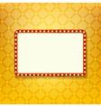 Retro golden frame vector image vector image