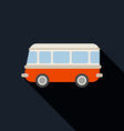 Retro van car icon flat design vector image vector image