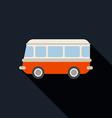 Retro van car icon flat design