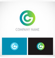 round connect technology company logo vector image vector image