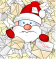 santa claus on mail background vector image vector image