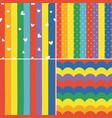 set colorful rainbow striped seamless pattern vector image vector image