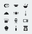 set of 12 editable kitchen icons includes symbols vector image