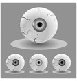 set of halloween human eyes eyeball with veins vector image