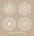 Set of mandala decorative ornament design vector image