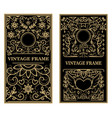 set of vintage frames design elements for poster vector image vector image
