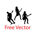 singer silhouettes vector image vector image