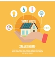 Smart home concept flat icon poster vector image