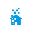 smart home logo design template vector image vector image