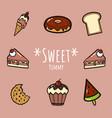 sweet yummy set vector image vector image