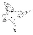 the swan vintage vector image vector image
