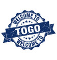 togo round ribbon seal vector image vector image