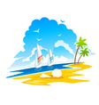 tropical coastline vector image vector image