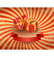 Vintage holiday background with two red gift boxes vector image vector image