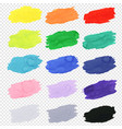 watercolor blots collection vector image vector image