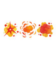 watercolor bomb explosion and fire cloud effect vector image