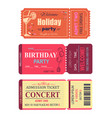 welcome holiday party set vector image