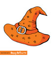 witch hat on halloween an vector image vector image