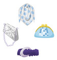 woman accessories set collection vector image vector image