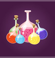 chemical laboratory flask glassware tube liquid vector image